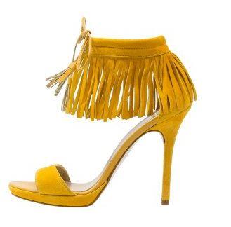 chaussures jaune - Une couleur : le jaune moutarde