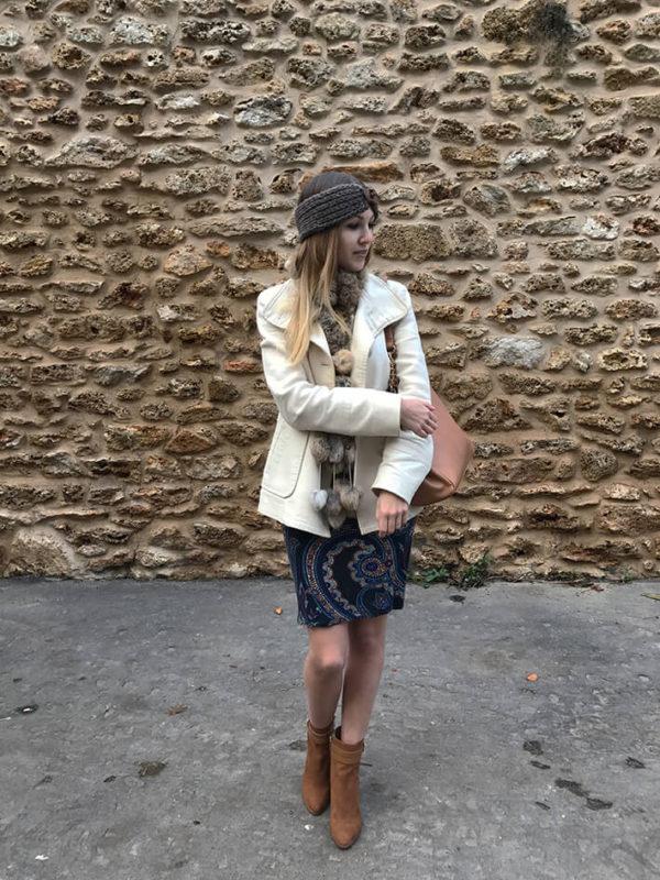 tenue robe bandeau2 600x800 - La jolie robe motif cachemire