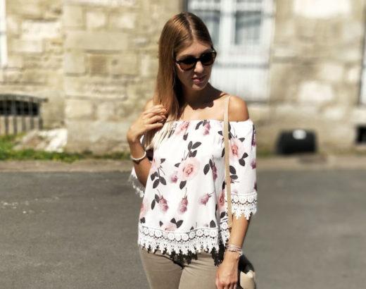 Jolie blouse fleurie