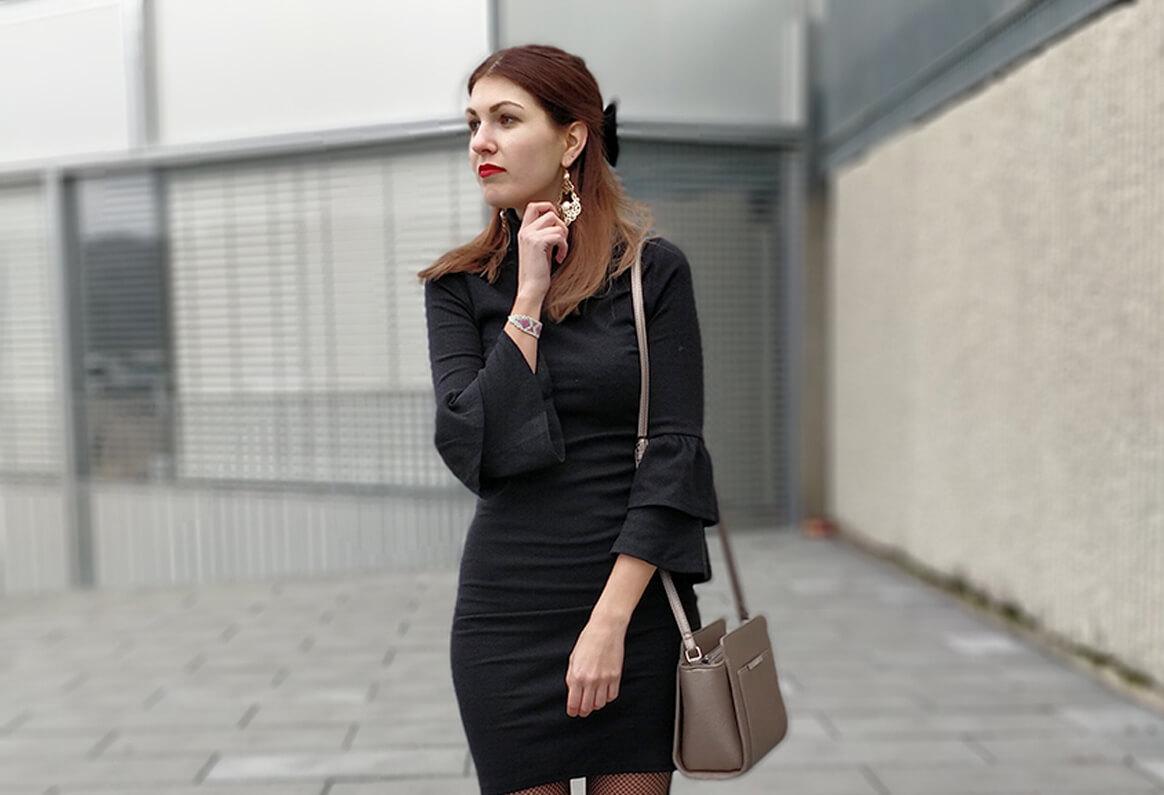 Tenue blog paris blogueuse mode robe noire
