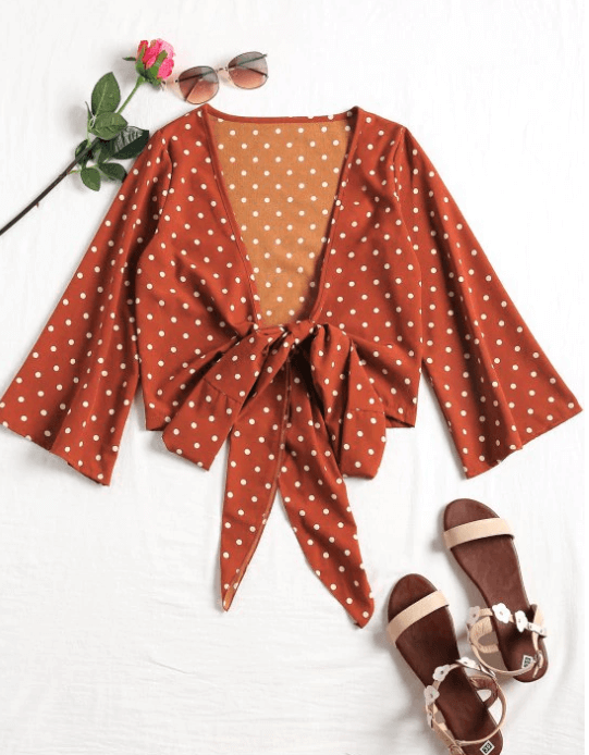 blouse pois - Ma sélection Zaful