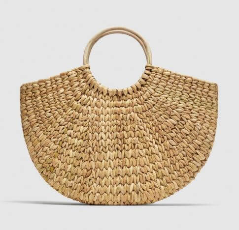 grand panier zara - Quand le panier remplace le sac à main