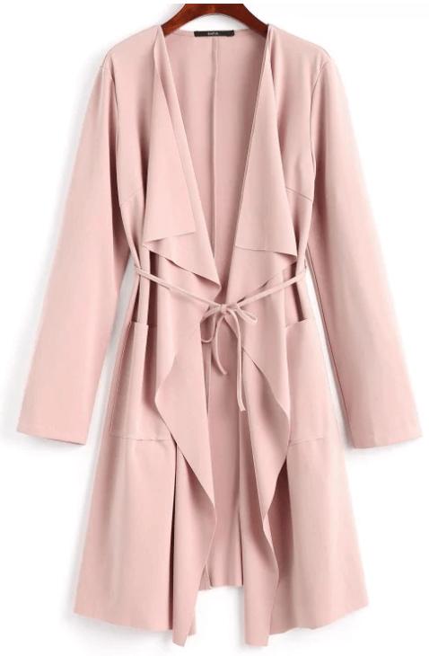 manteau drapé - Ma sélection Zaful