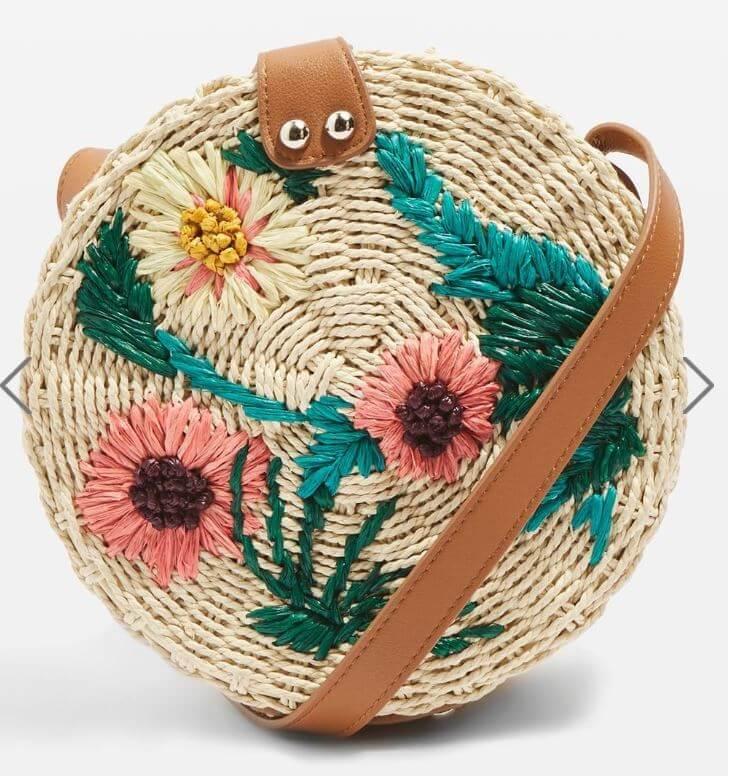 panier fleurs topshop - Quand le panier remplace le sac à main