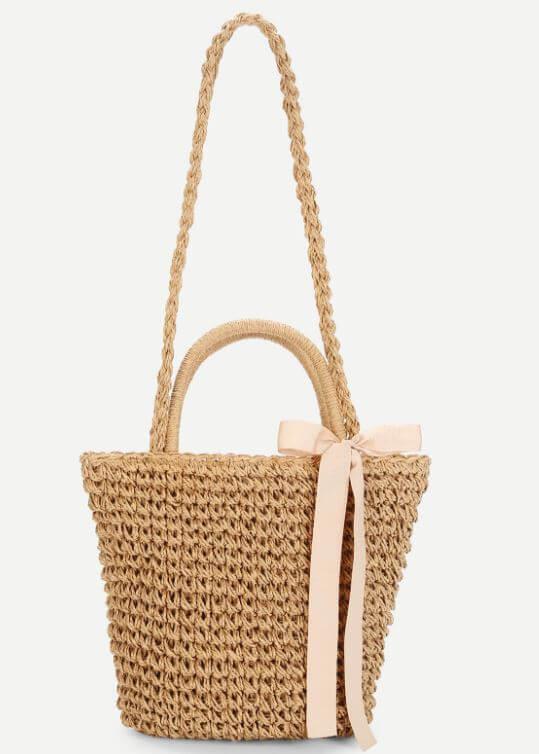 panier noeud romwe - Quand le panier remplace le sac à main