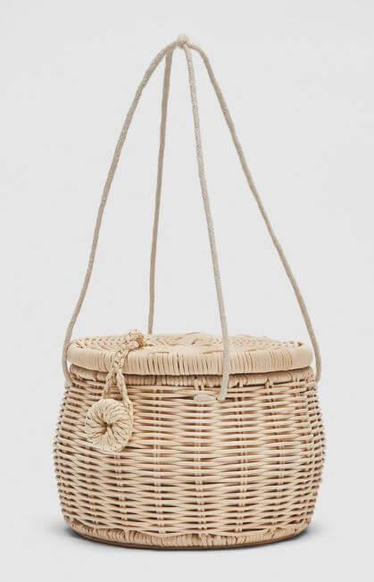 panier raphia zara - Quand le panier remplace le sac à main