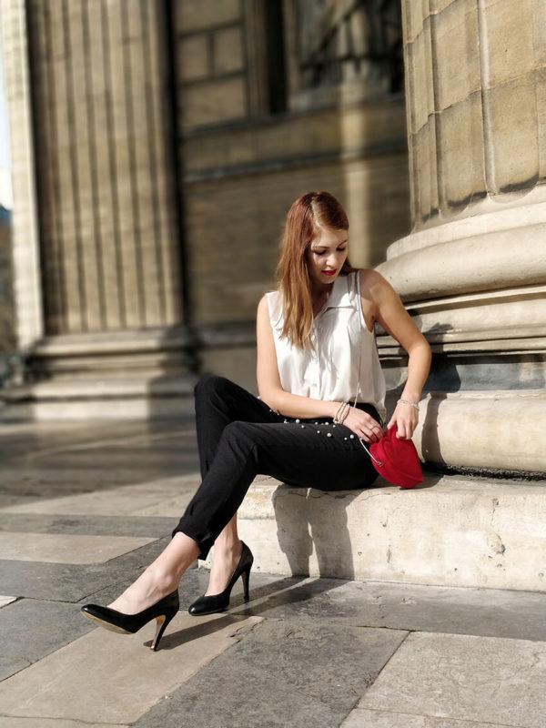 pantalon perles tenue blog 600x800 - Des perles partout !