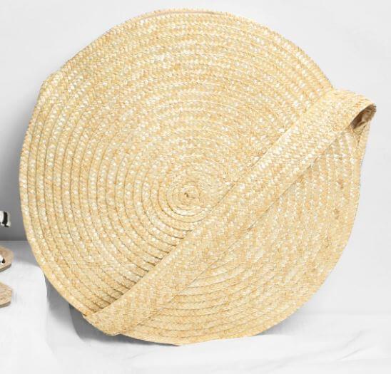 sac paille rond romwe - Quand le panier remplace le sac à main
