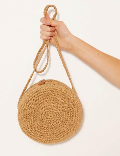 sac rond camaieu - Quand le panier remplace le sac à main