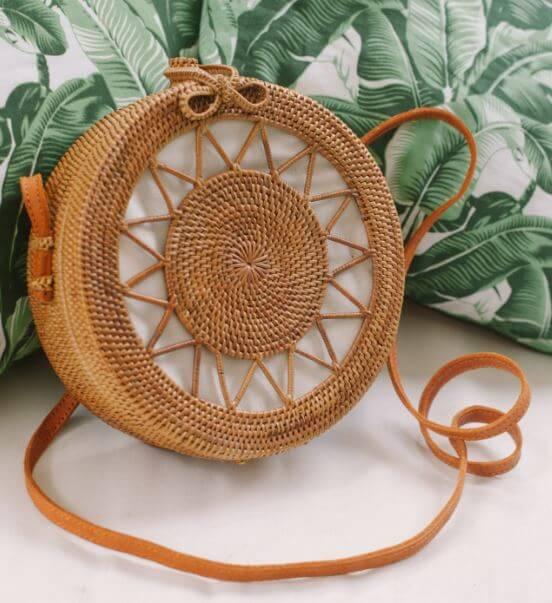 sac rond kinilush - Quand le panier remplace le sac à main