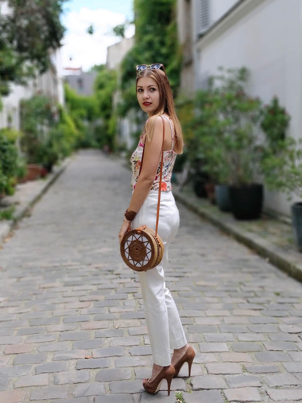 blog 19 janvier paris sac rond bali panier tenue - De la verdure et du soleil