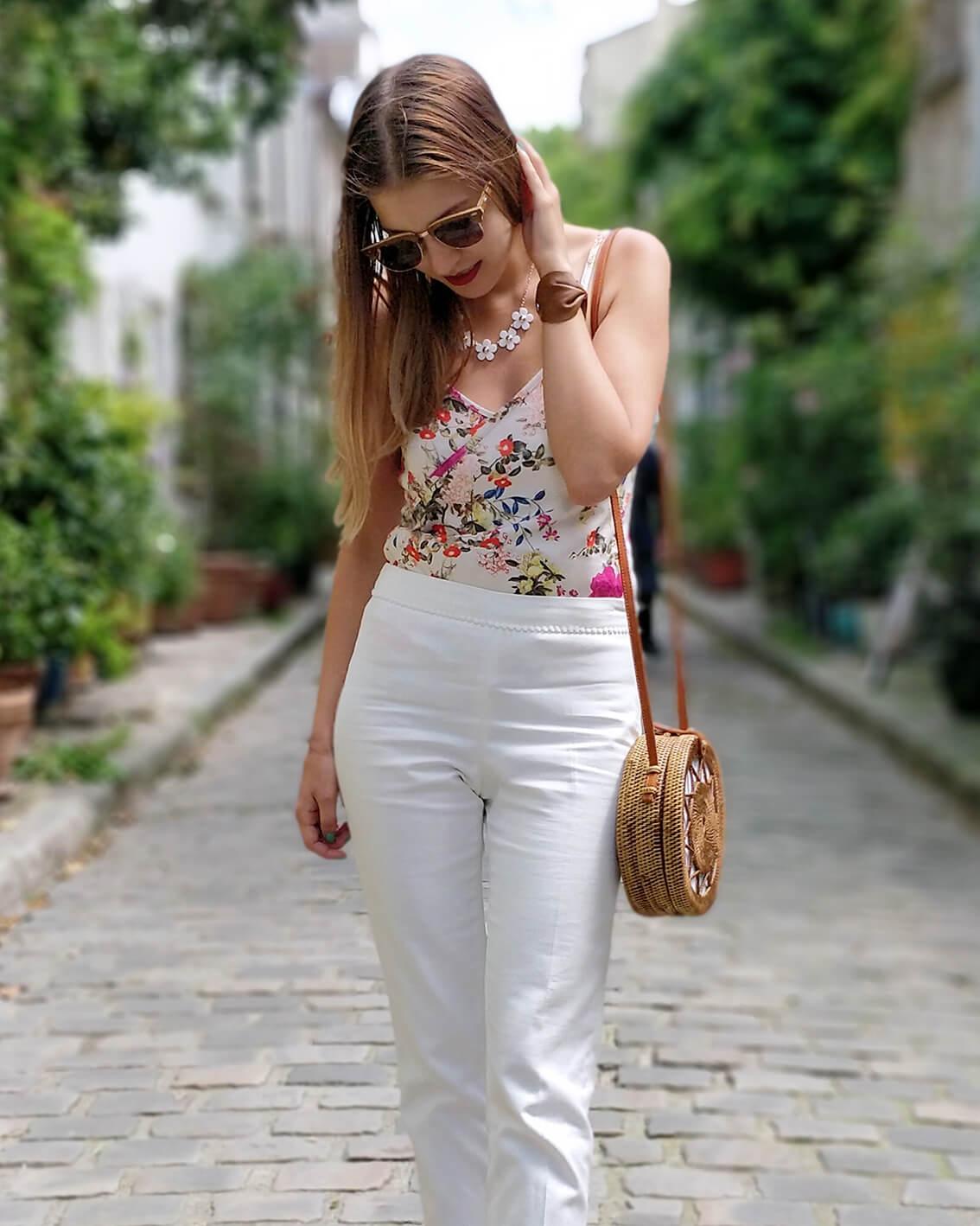 blog mode détails tenue estivale paris - De la verdure et du soleil