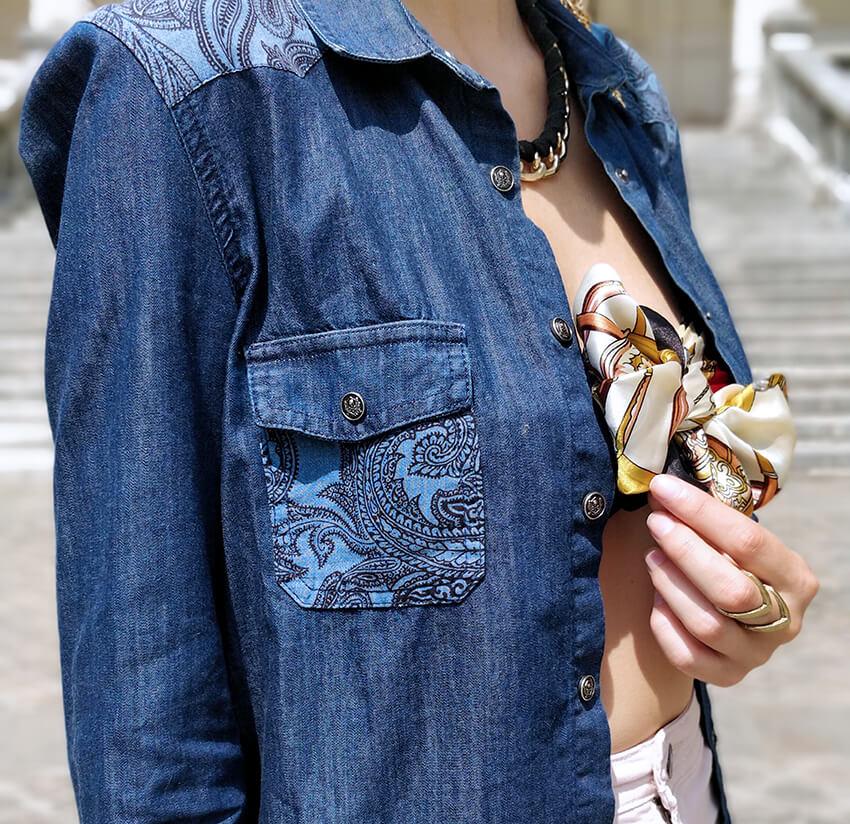 détails bijoux top foulard noeud mode - C'est décidé : j'ose !
