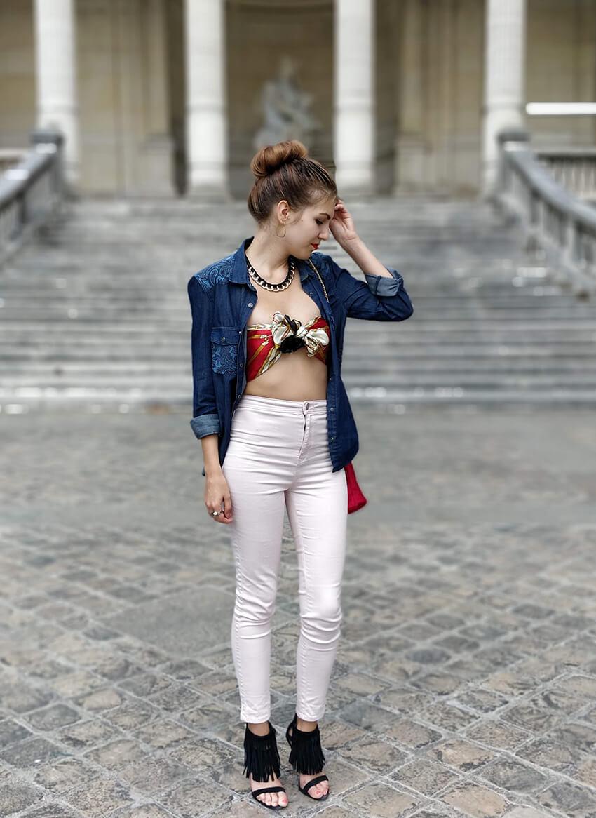 tenue 19 janvier mode ootd chemise en jean - C'est décidé : j'ose !