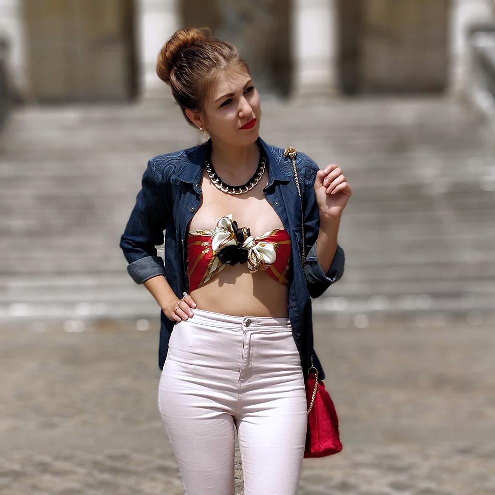 tenue blogueuse paris top foulard - C'est décidé : j'ose !