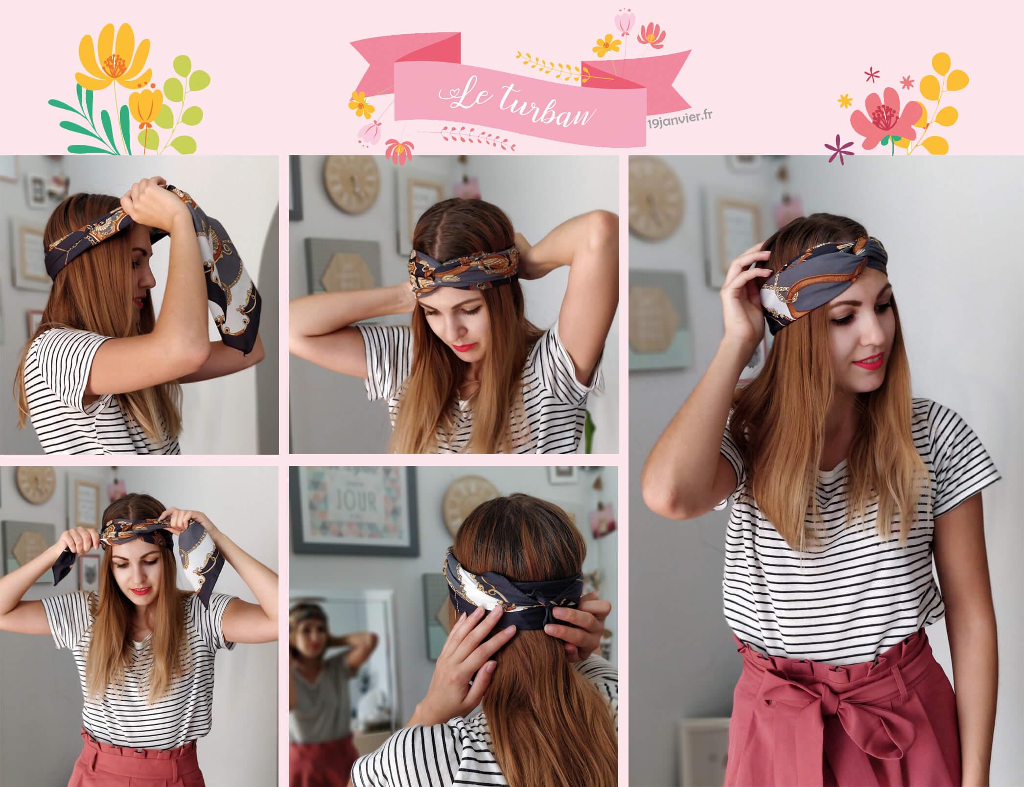 turban foulard tutoriel - Que faire avec un carré de soie ?