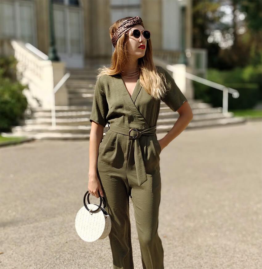 blog mode combinaison pantalon kaki - Profiter de l'été indien
