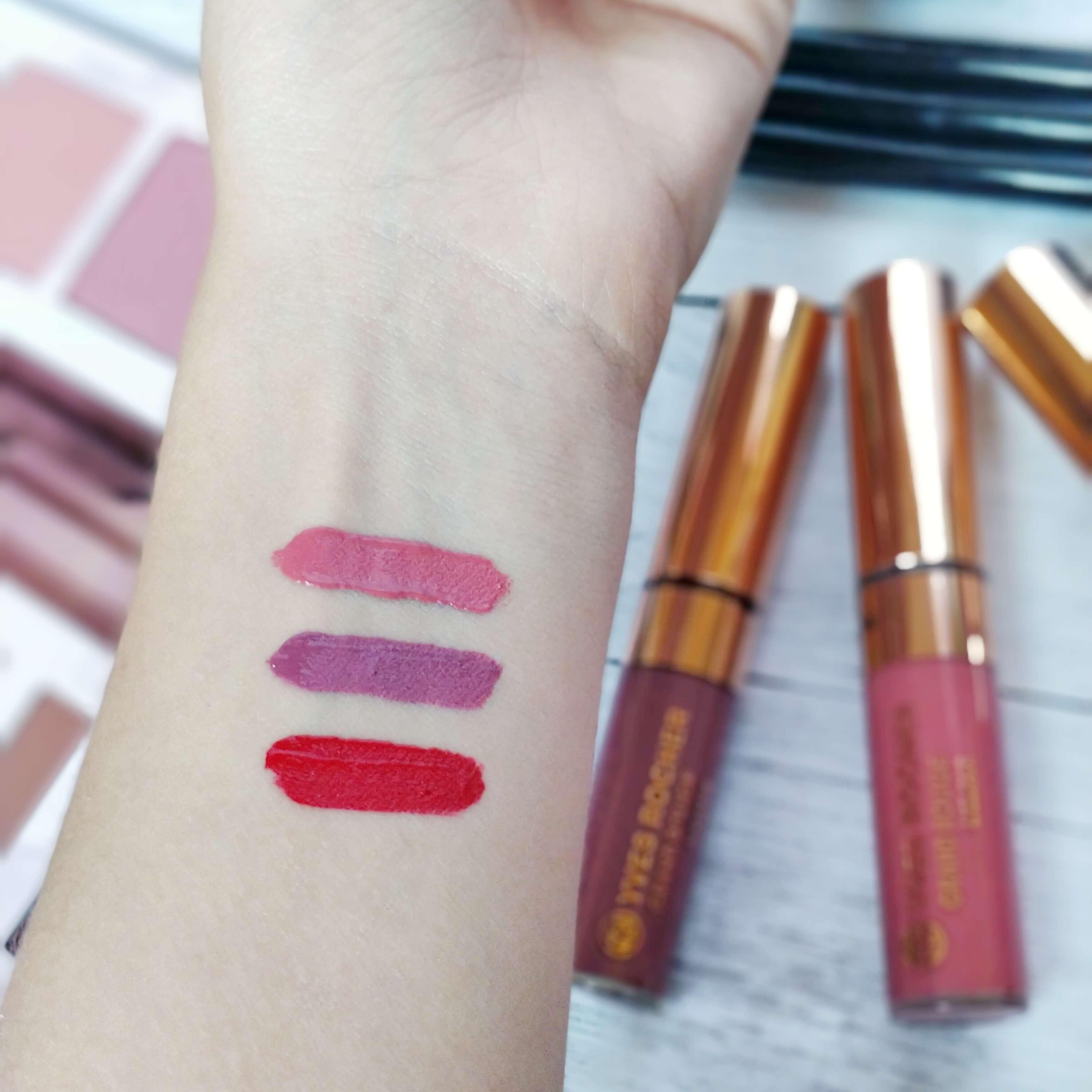 rouge à lèvres grand rouge yves rocher swatch - Je teste une quarantaine de rouges à lèvres liquides !
