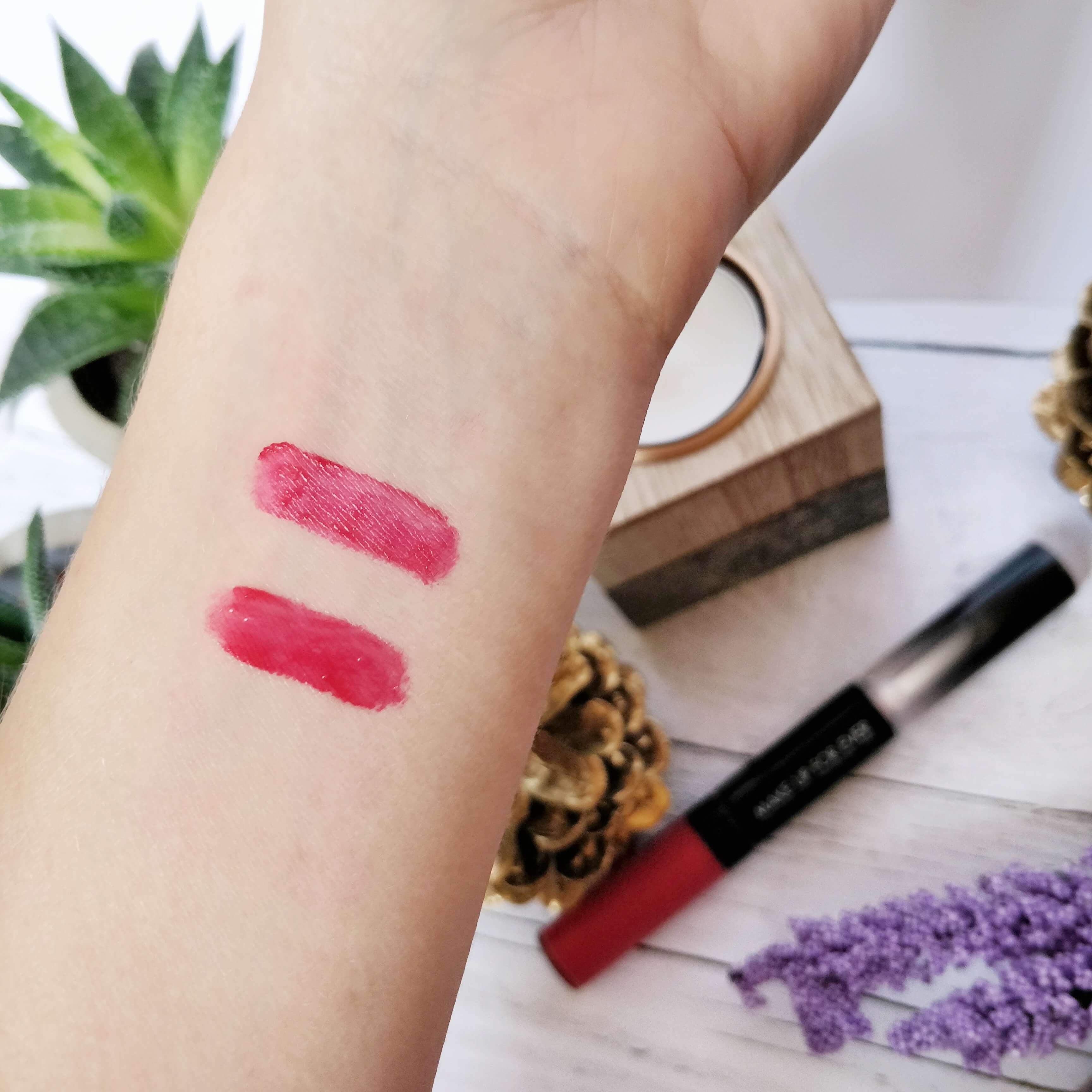 rouge à lèvres liquide make up forever swatch - Je teste une quarantaine de rouges à lèvres liquides !