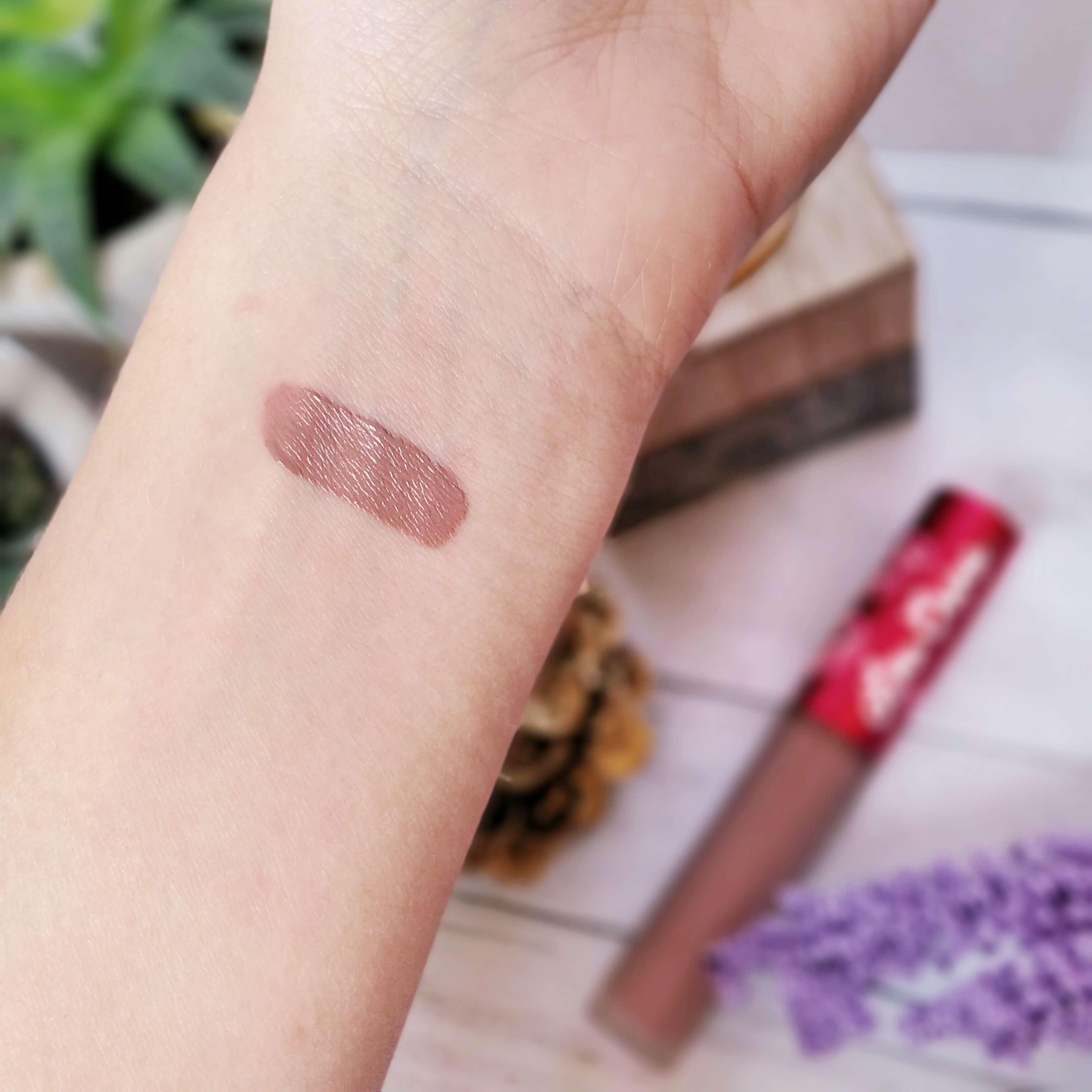 rouge à lèvres liquide matte lime crime swatch cashmere - Je teste une quarantaine de rouges à lèvres liquides !