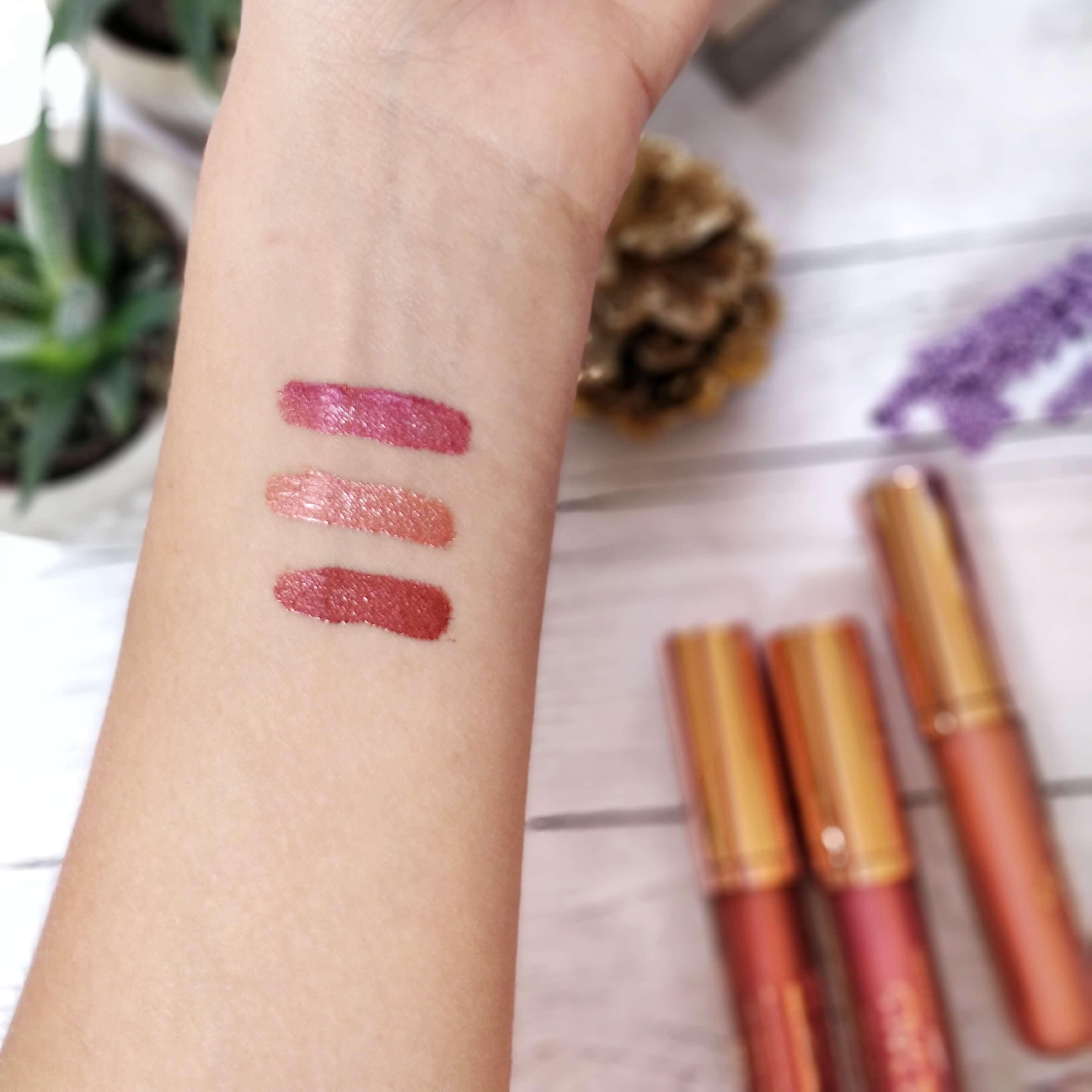 rouge à lèvres métal golden rose swatch - Je teste une quarantaine de rouges à lèvres liquides !