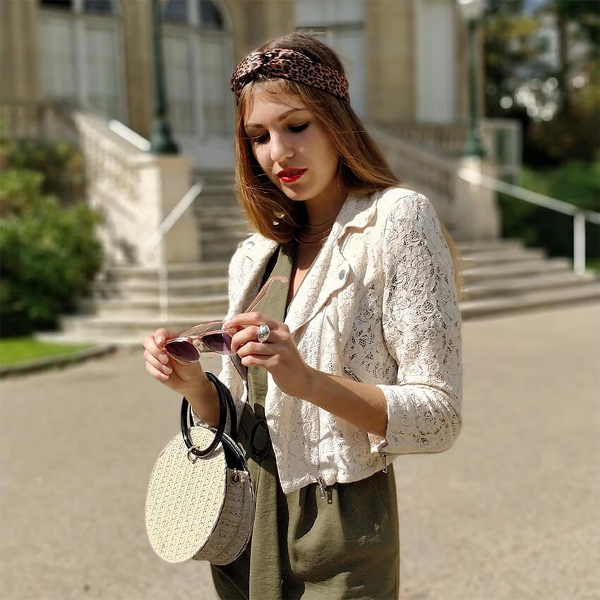 tenue combinaison kaki perfecto dentelle blog mode - Profiter de l'été indien