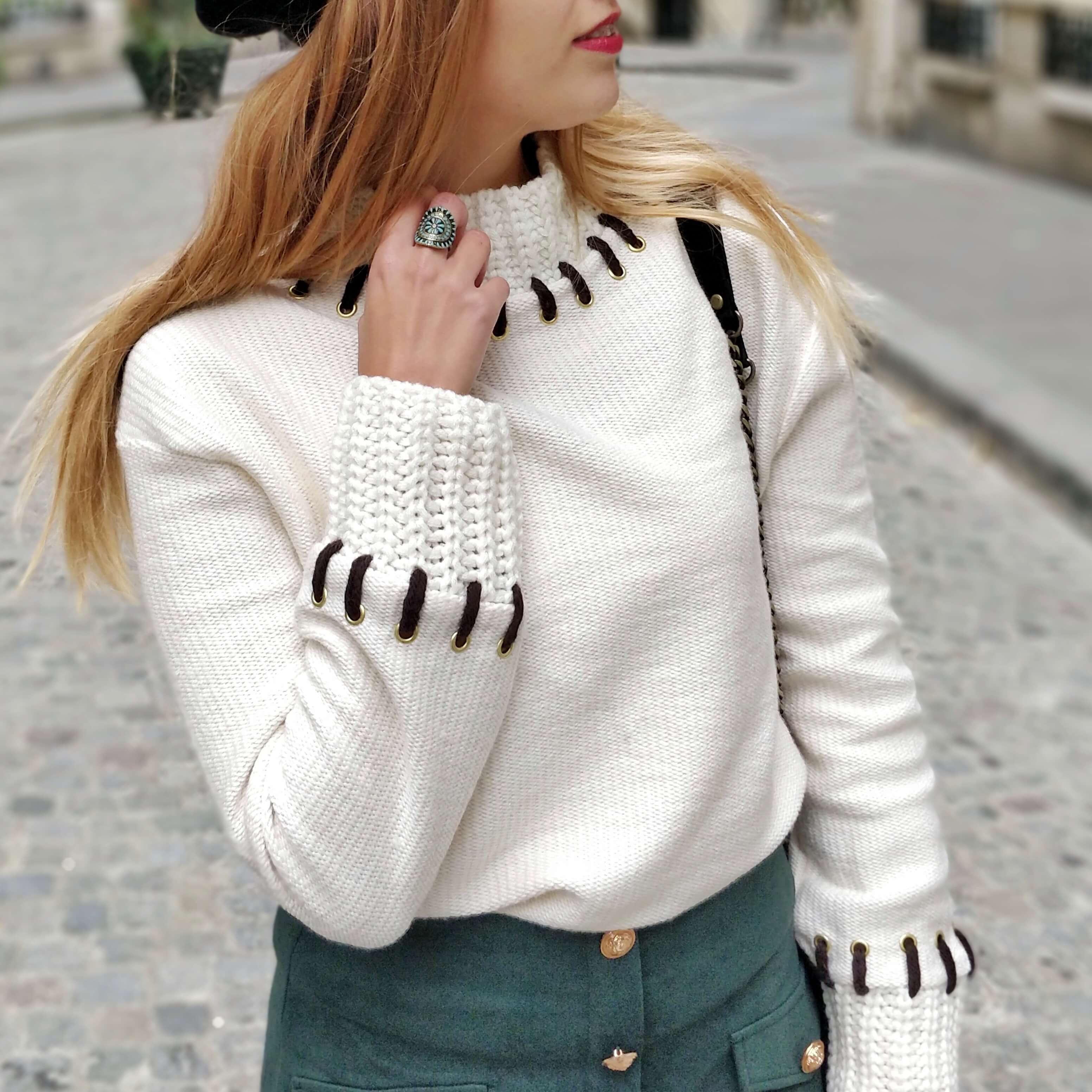 détails pull hiver blog mode paris - La couleur de l'hiver
