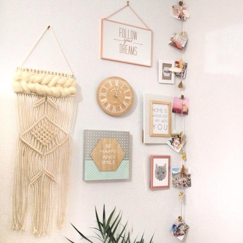 macramé mur de cadres décoration - Ce qu'Instagram m'a fait acheter...