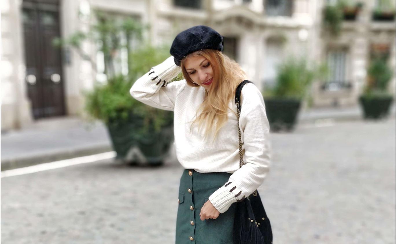 vignette blog mode tenue hiver jupe sapin - La couleur de l'hiver
