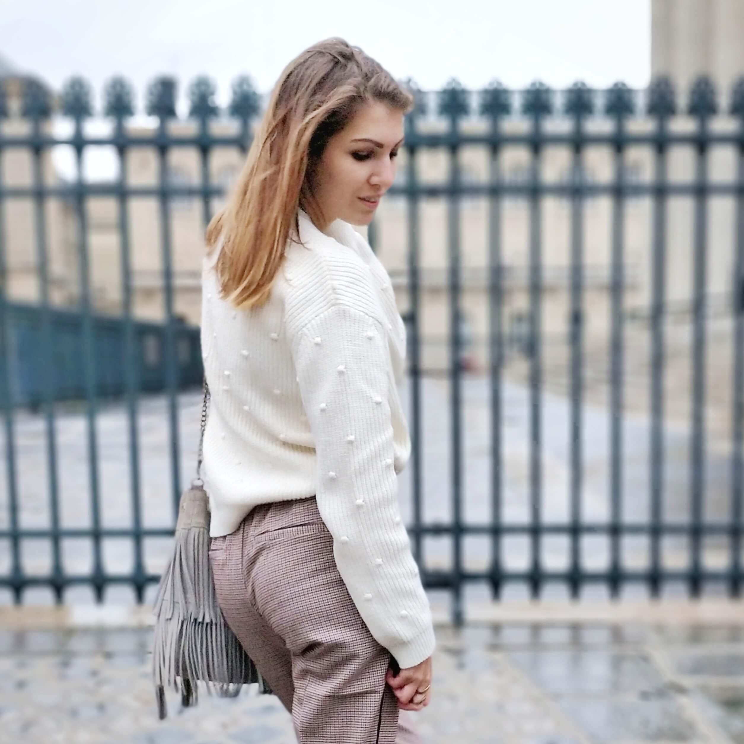 blog 19 janvier pull blanc - L'hiver en fausse fourrure