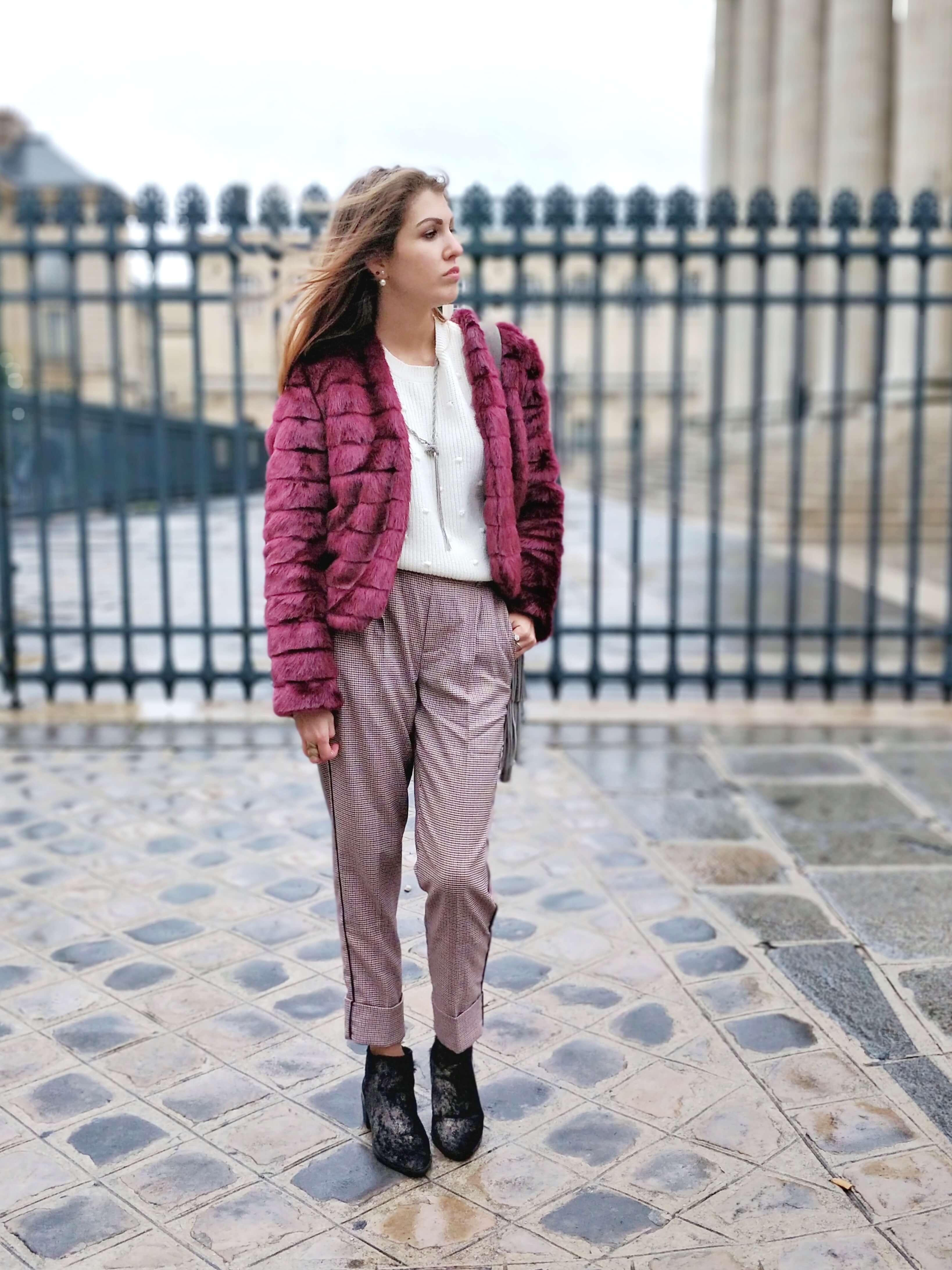blog 19 janvier tenue hiver veste fourrure - L'hiver en fausse fourrure