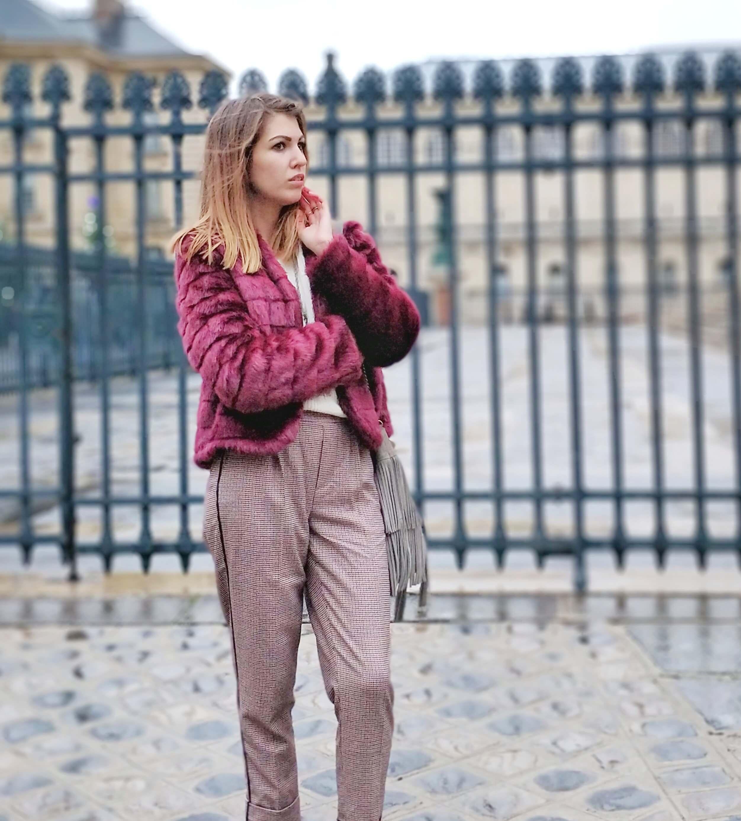 blog mode paris veste fourrure - L'hiver en fausse fourrure