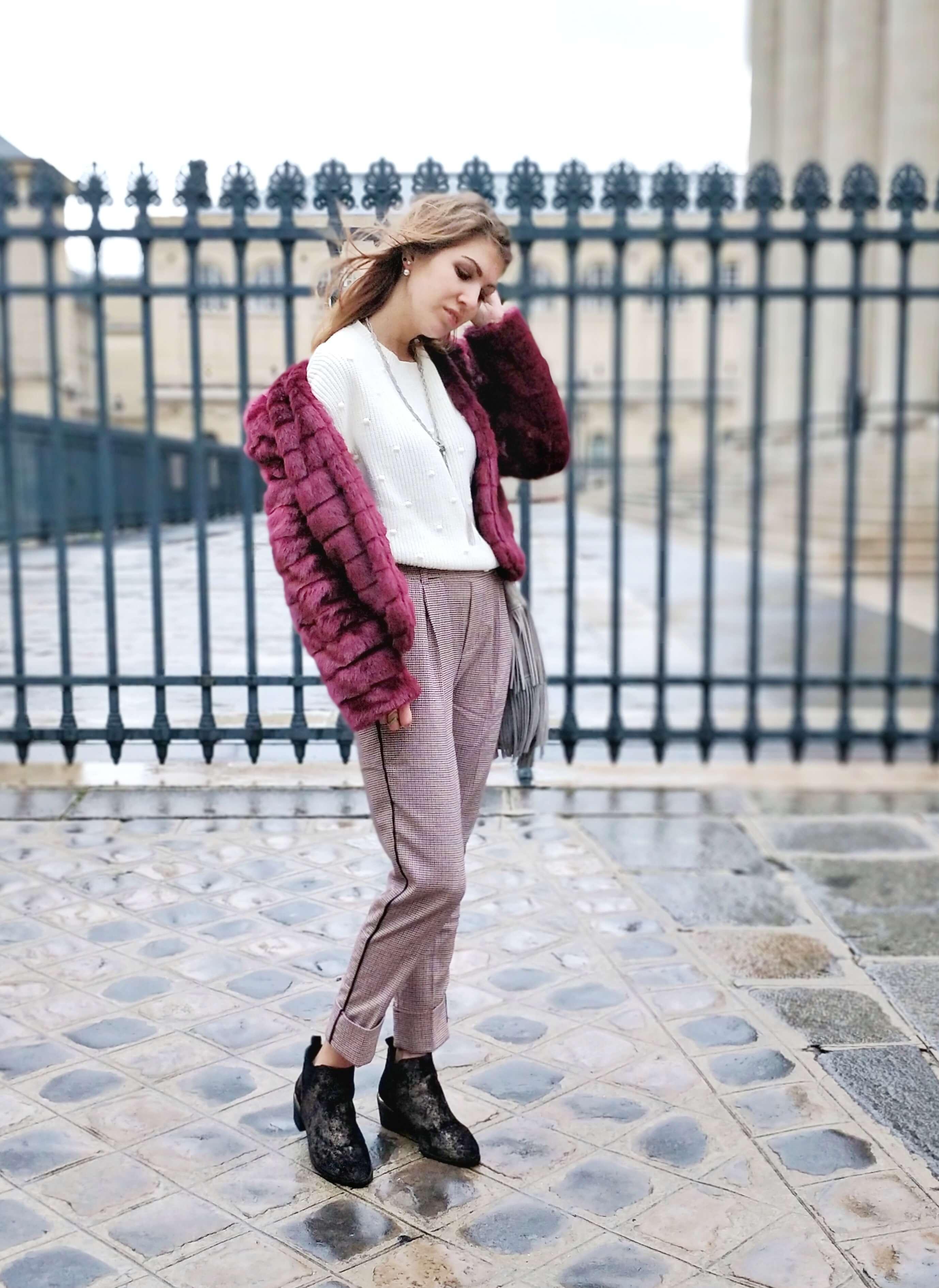 tenue manteau fausse fourrure blog - L'hiver en fausse fourrure