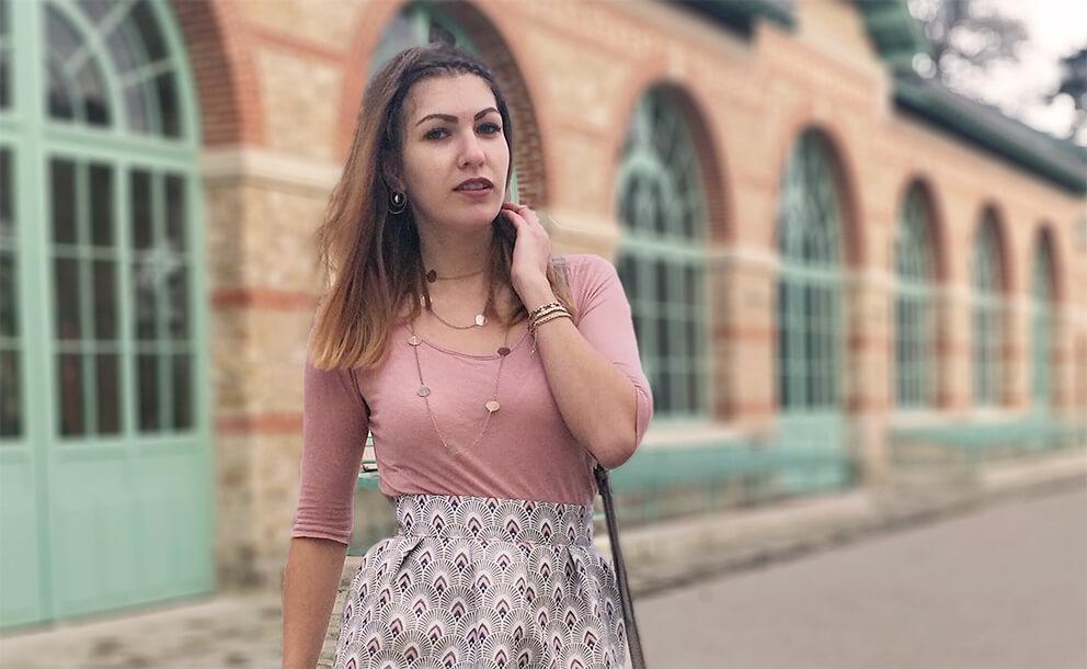 blog mode tenue jupe rose graphique 19 janvier - C'est encore plus beau quand c'est fait main