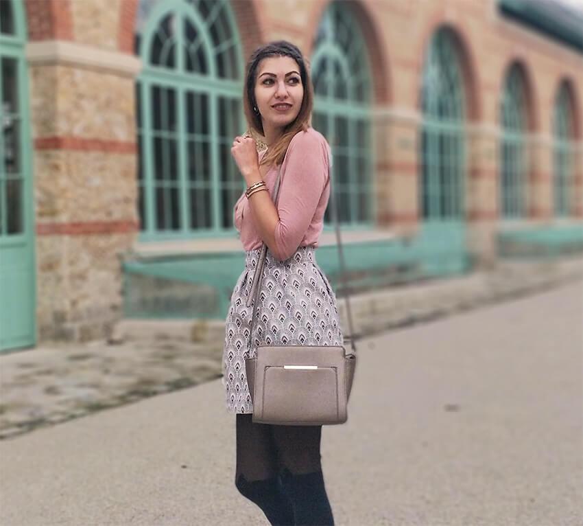 tenue blog 19 janvier jupe fait main rose - C'est encore plus beau quand c'est fait main