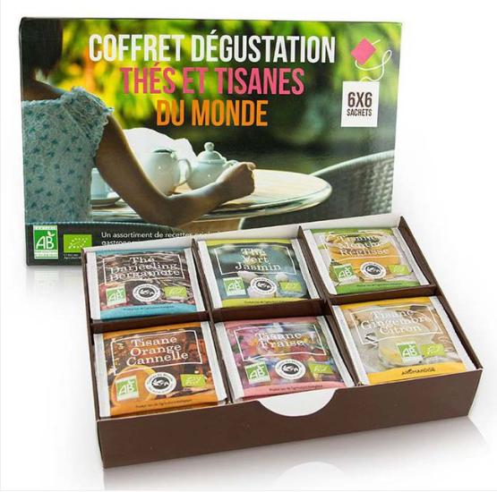 coffret thé bio - Idées cadeaux éthiques et éco-responsables