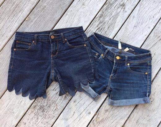 Tuto : faire un short en jean