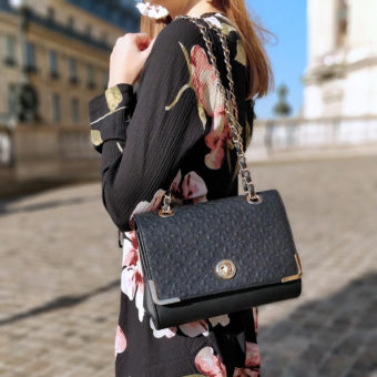 Robe tenue Paris blog blogueuse mode 19 janvier missguided sac