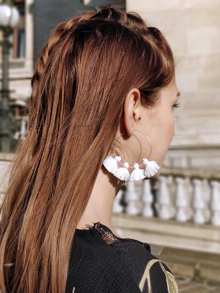 Robe tenue Paris blog blogueuse mode 19 janvier missguided boucles d'oreille