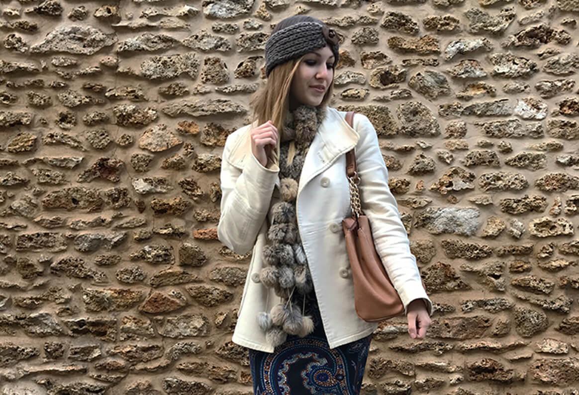 vignette robe bandeau - La jolie robe motif cachemire