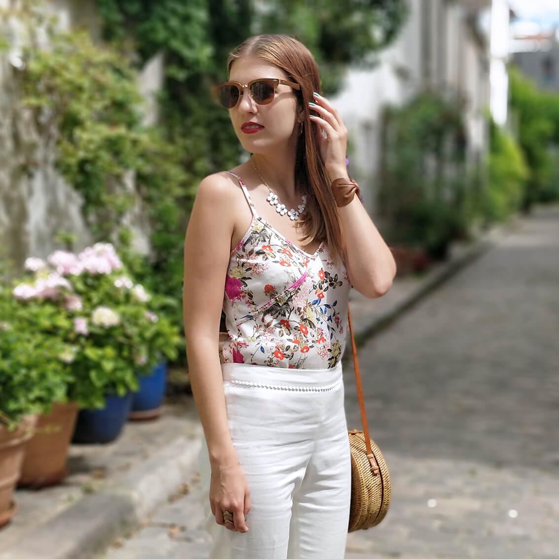 blog tenue été paris mode détails - De la verdure et du soleil