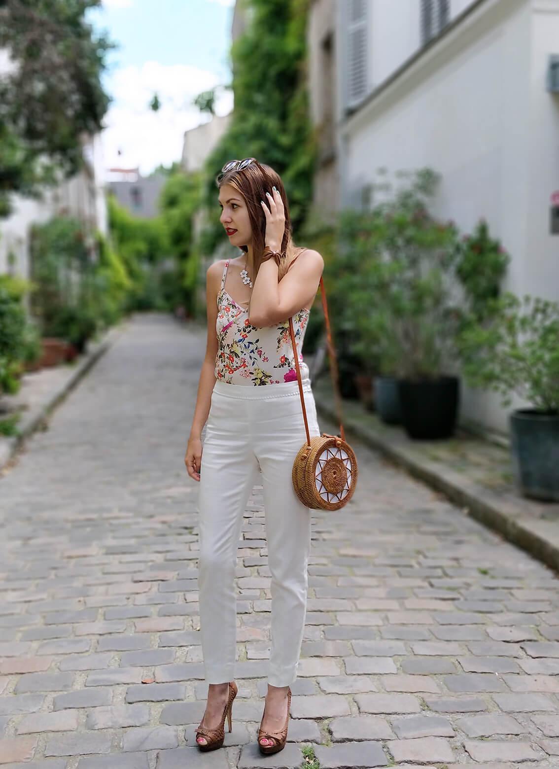 tenue blog outfit mode paris 19 janvier - De la verdure et du soleil