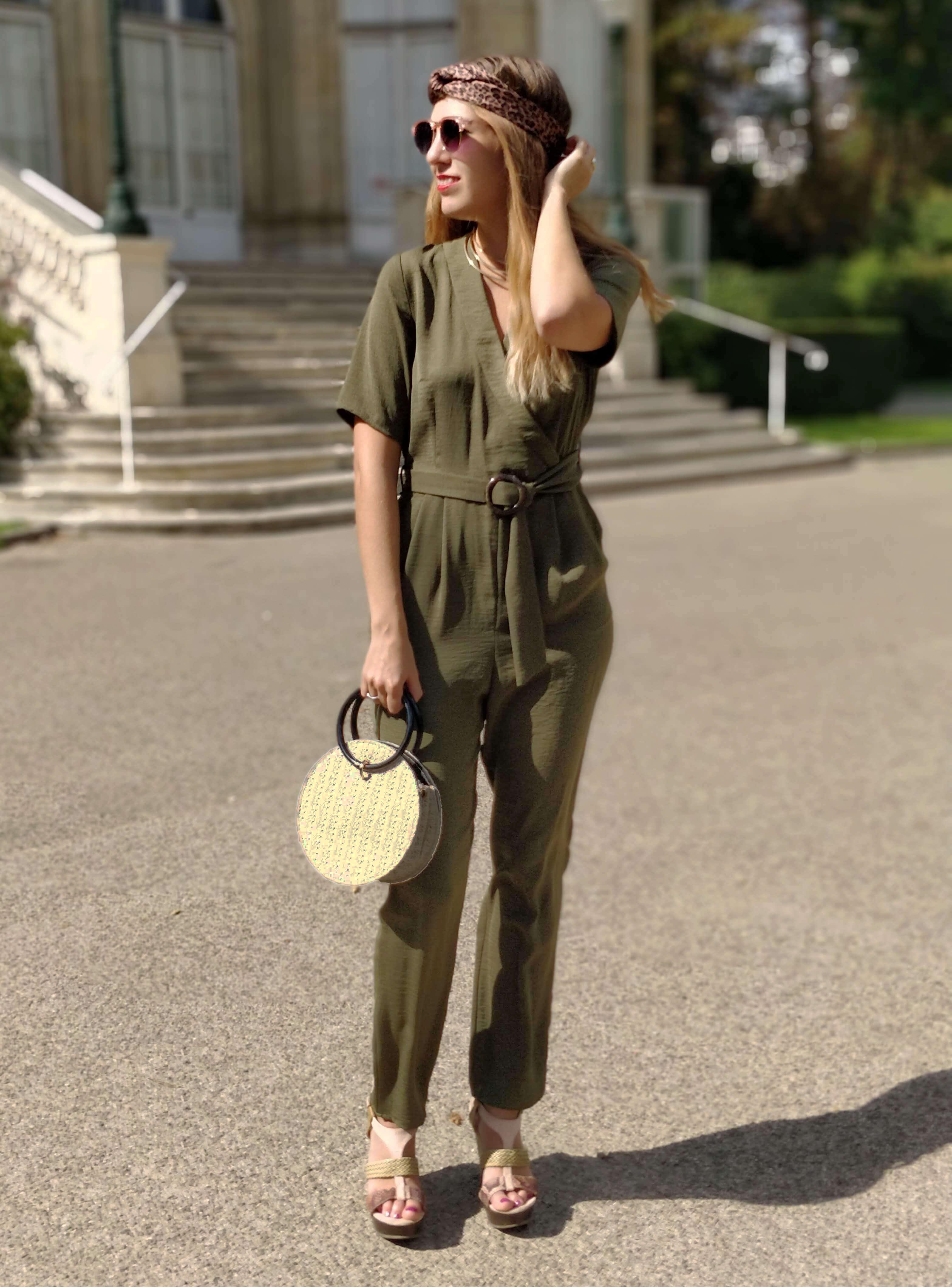combinaison pantalon kaki blog mode - Profiter de l'été indien