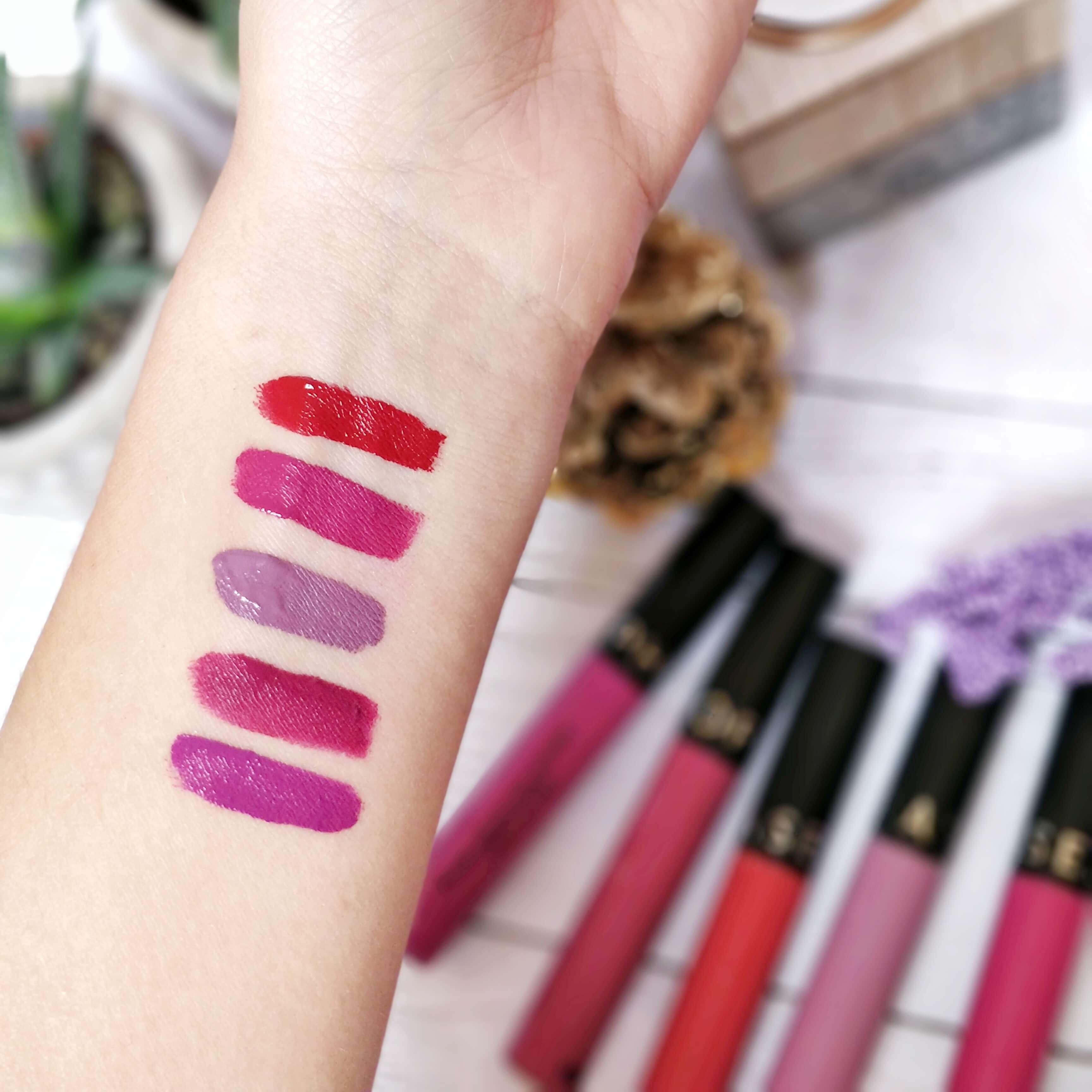rouge à lèvres liquide matte sephora swatch - Je teste une quarantaine de rouges à lèvres liquides !