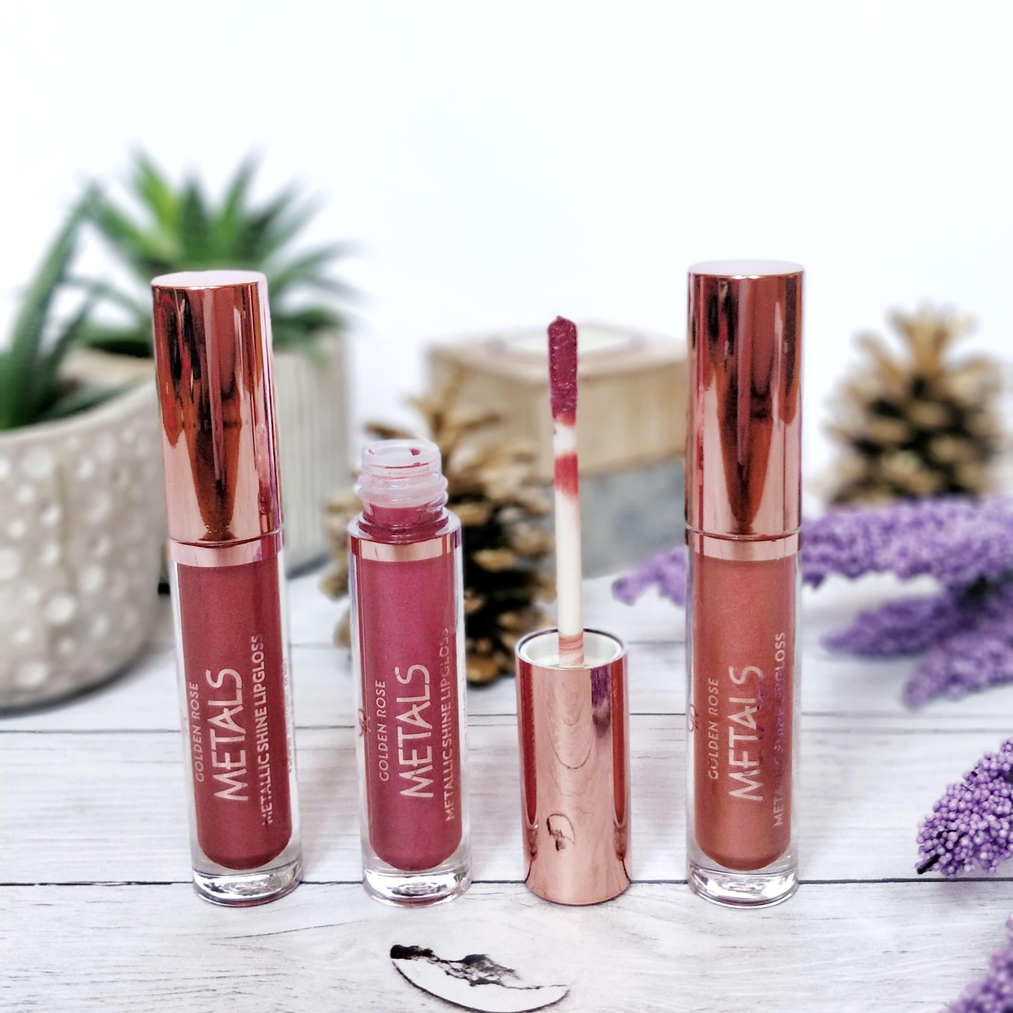 rouge à lèvres métal golden rose - Je teste une quarantaine de rouges à lèvres liquides !