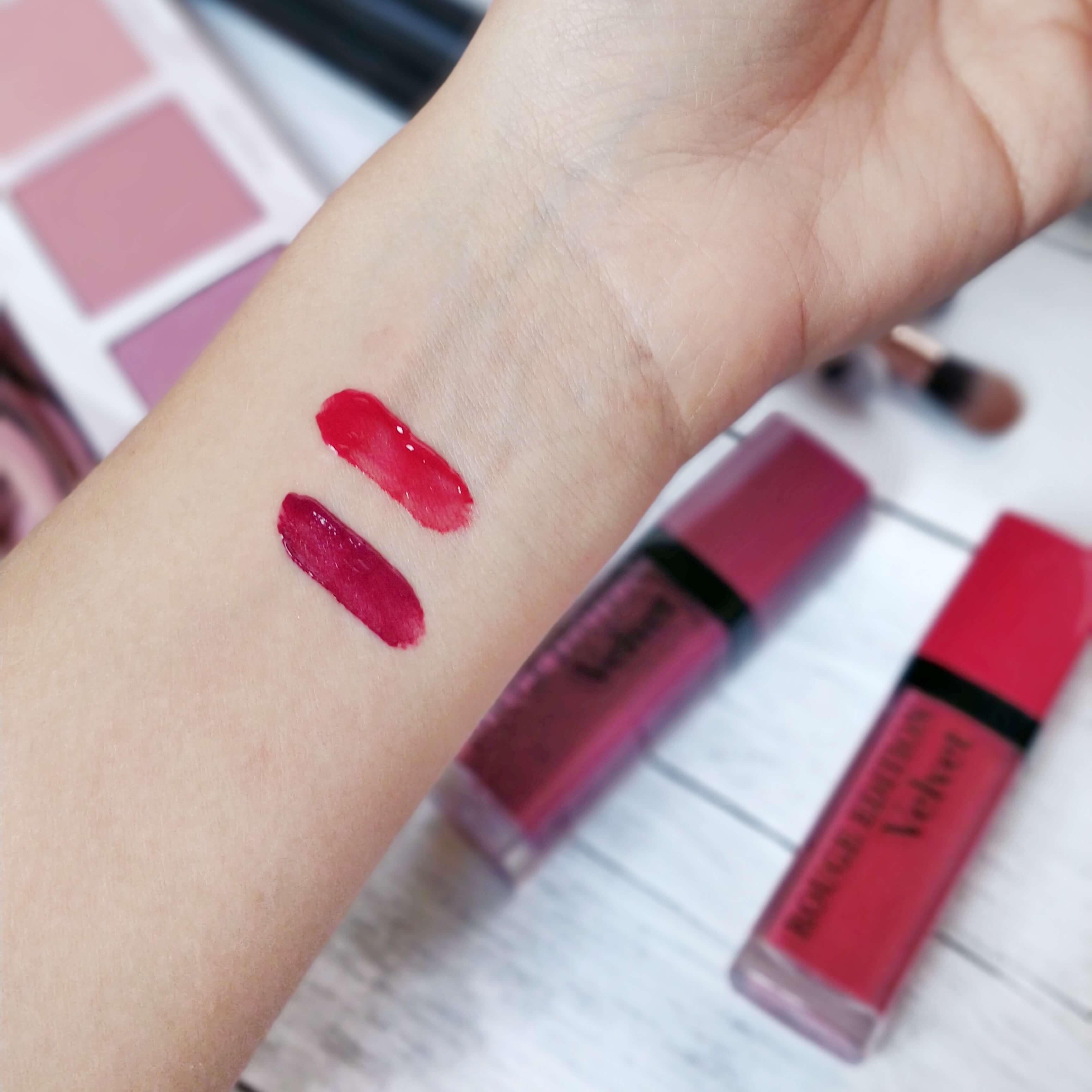 rouge à lèvres velvet bourjois swatch - Je teste une quarantaine de rouges à lèvres liquides !