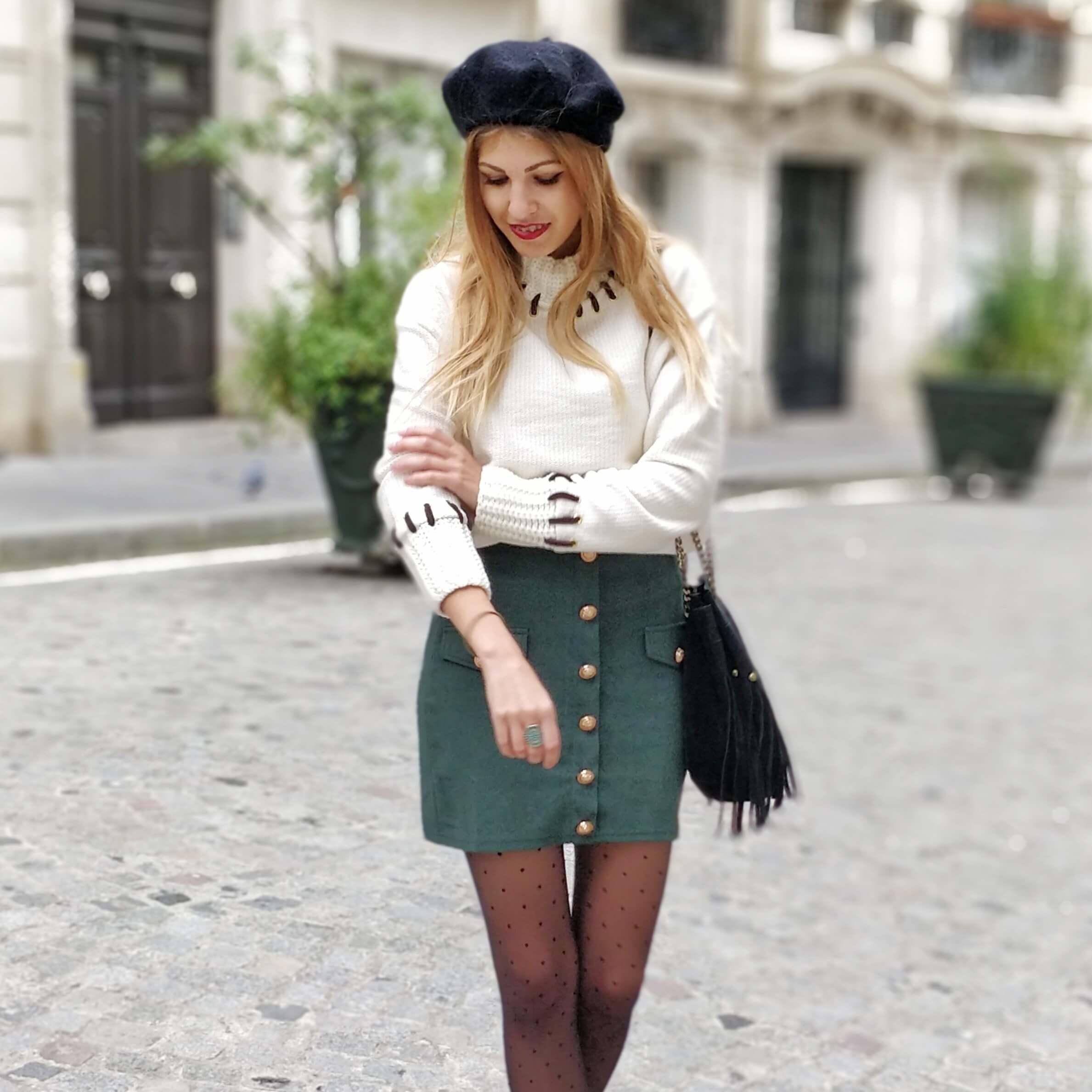 blog mode paris jupe sapin hiver - La couleur de l'hiver