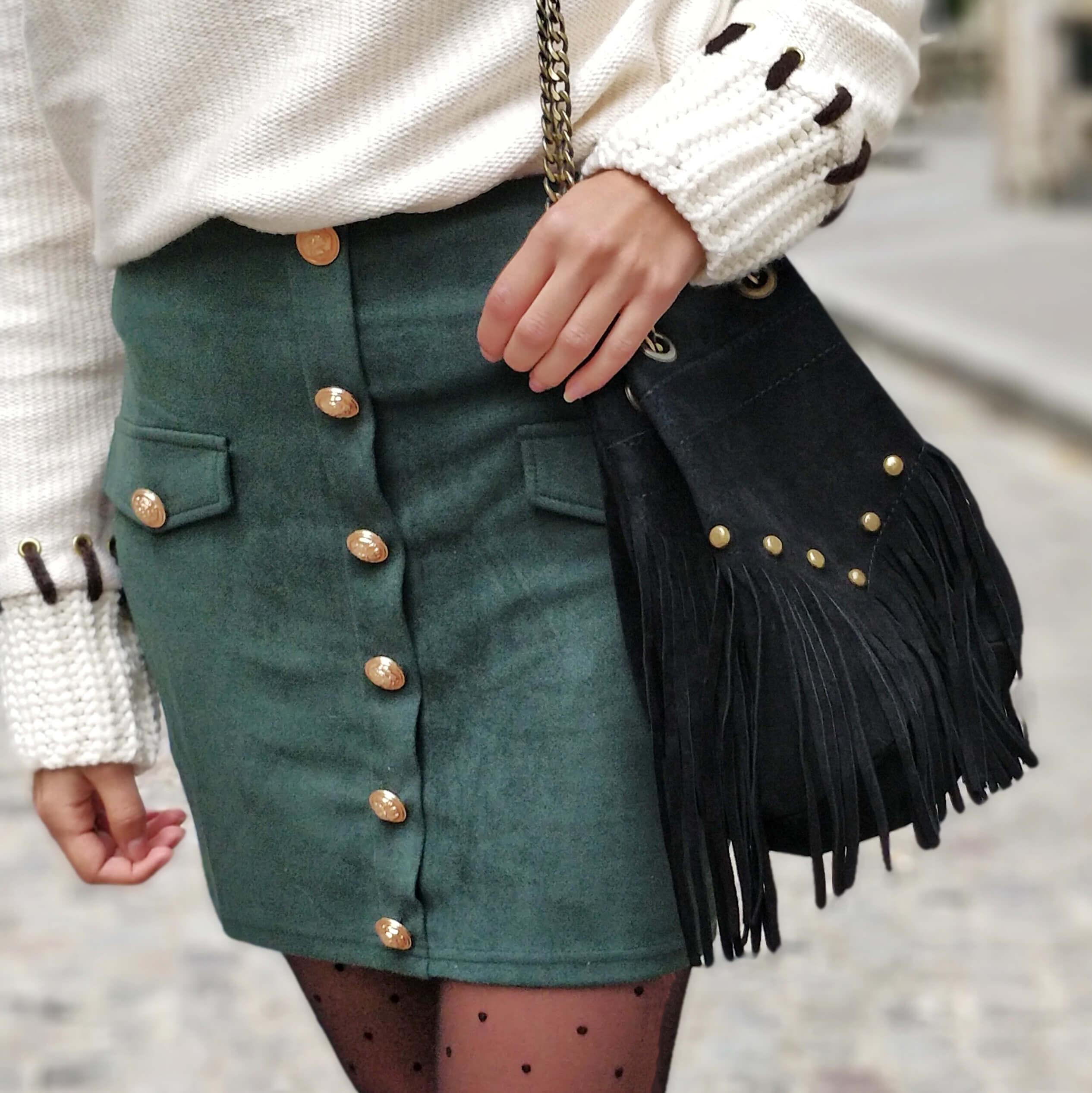 détails jupes sac franges blog mode 19 janvier - La couleur de l'hiver
