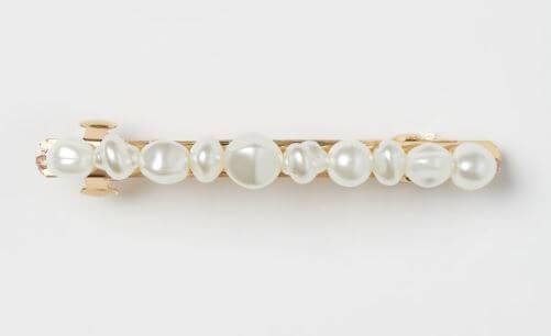 barrette perles hm - On accessoirise nos cheveux !