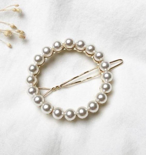 barrette perles jolie demoiselle - On accessoirise nos cheveux !